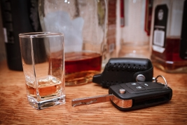 Bourbon and car keys - DUI attorney in Salinas